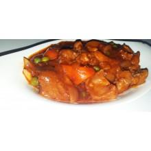 Kalderetang Baka [With Rice + Soup]