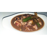Adobo Pusit [With Rice + Soup]
