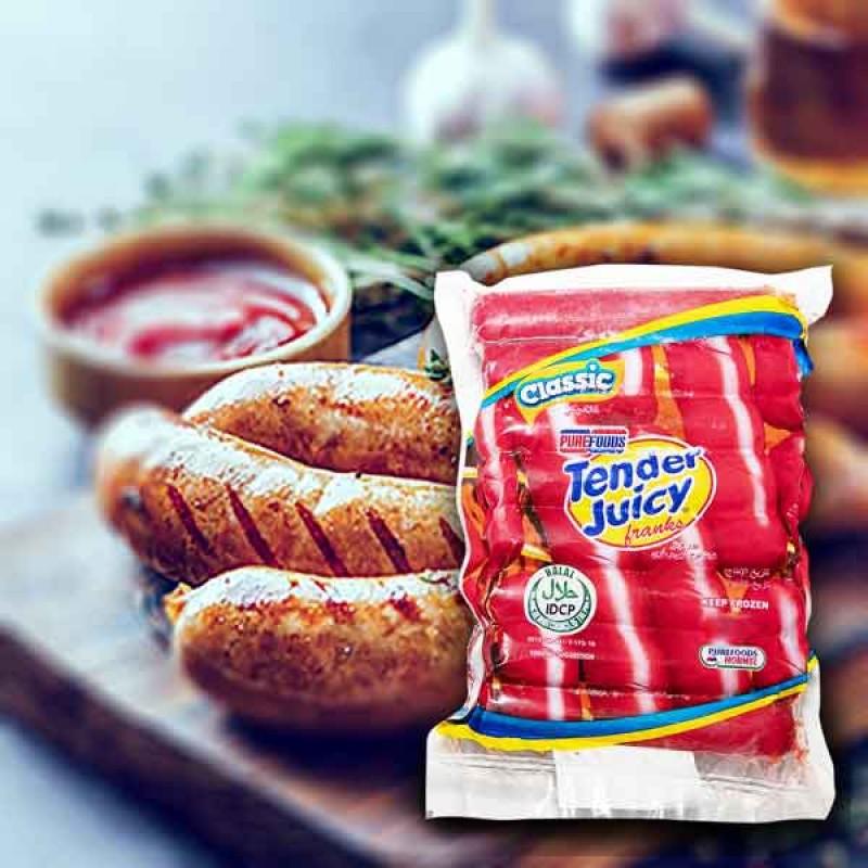 Pure Food Tender Juicy Hotdog